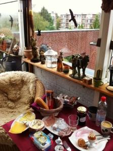 Le solarium de mon Airbnb à Utrecht