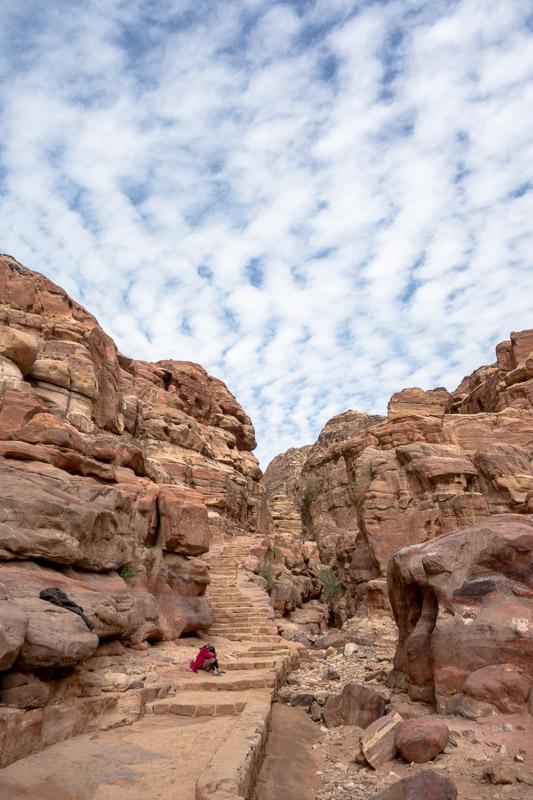 Vers le monastère, Petra -
