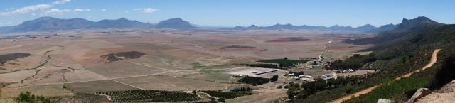Vallée en Afrique du sud, sur le chemin vers la Namibie