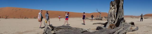 Une petite photo de groupe sympa que j'ai organisé à Death Valley dans le désert Namib