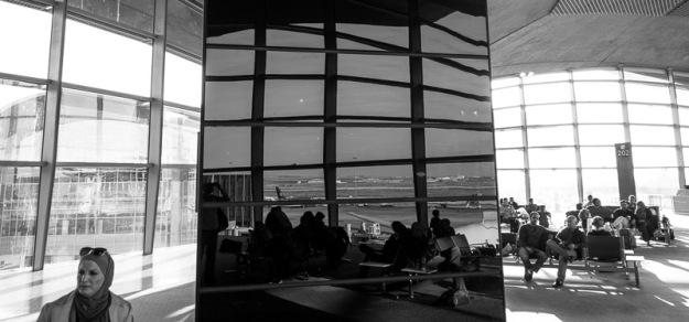 reflection in dubai airport