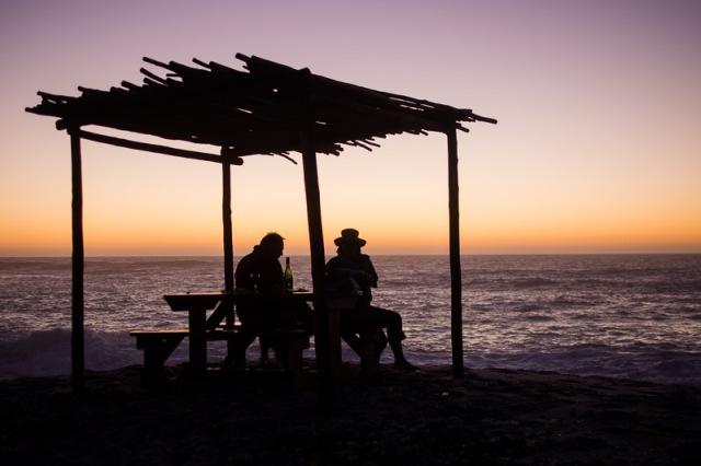 Couché de soleil à Sir Lanbert's bay