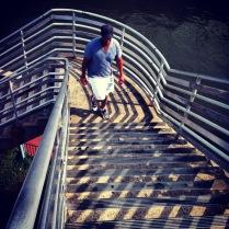 Penn's Landing sur le bord de la rivière Delaware