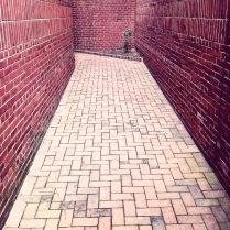 Couloir en brique à Philadelphie