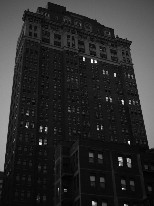Philadelphia building at night