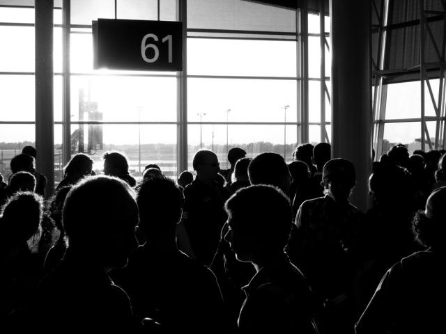 Porte 61 à l'aéroport Pierre Elliott Trudeau de Montréal, Canada
