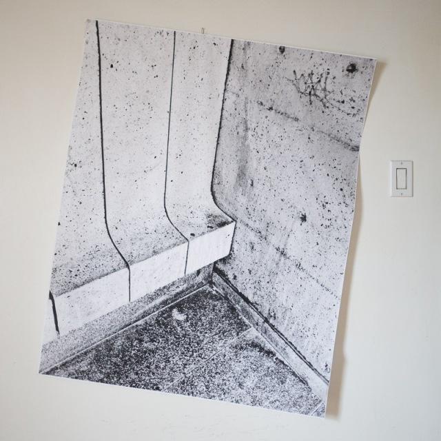 Un coin en noir et blanc, grand format, 36x45