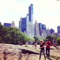 Up town New York vu de Central Park